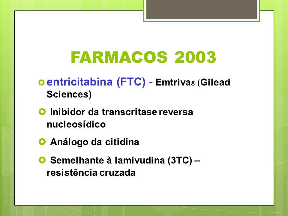 FARMACOS 2003 Inibidor da transcritase reversa nucleosídico