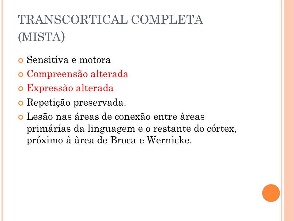 TRANSCORTICAL COMPLETA (mista)
