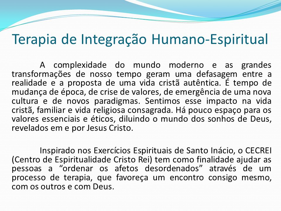 Terapia de Integração Humano-Espiritual