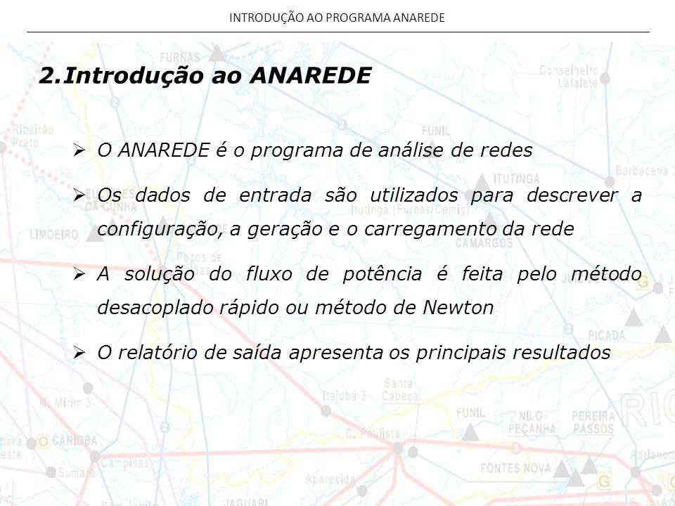 INTRODUÇÃO AO PROGRAMA ANAREDE