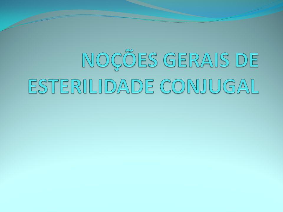 NOÇÕES GERAIS DE ESTERILIDADE CONJUGAL