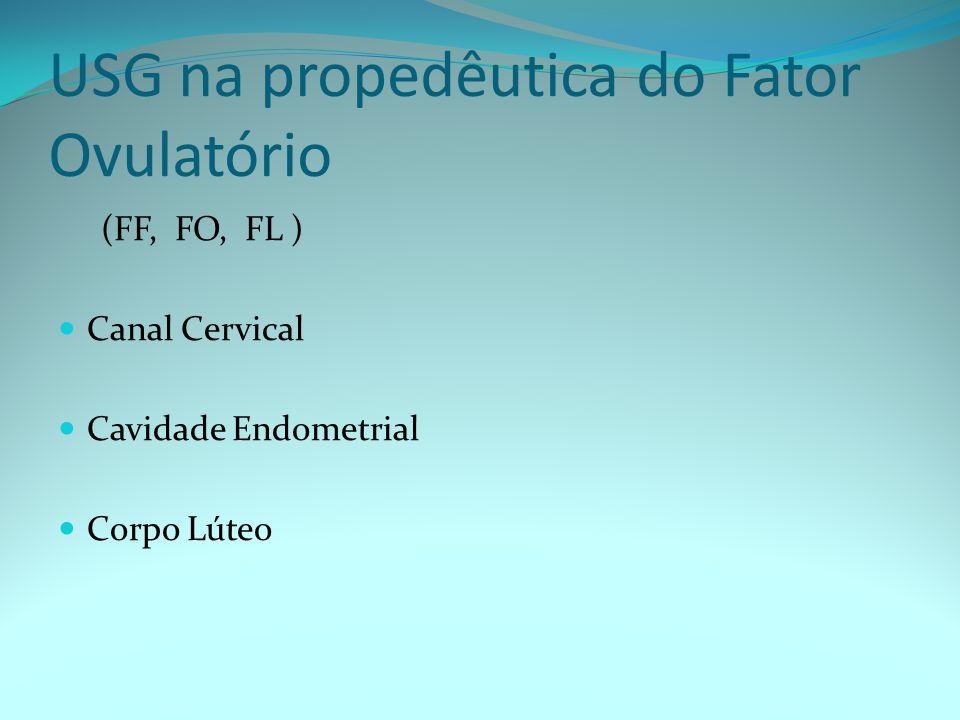 USG na propedêutica do Fator Ovulatório