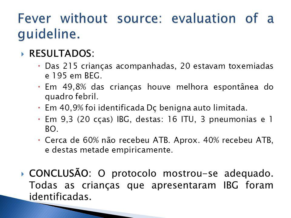 Fever without source: evaluation of a guideline.