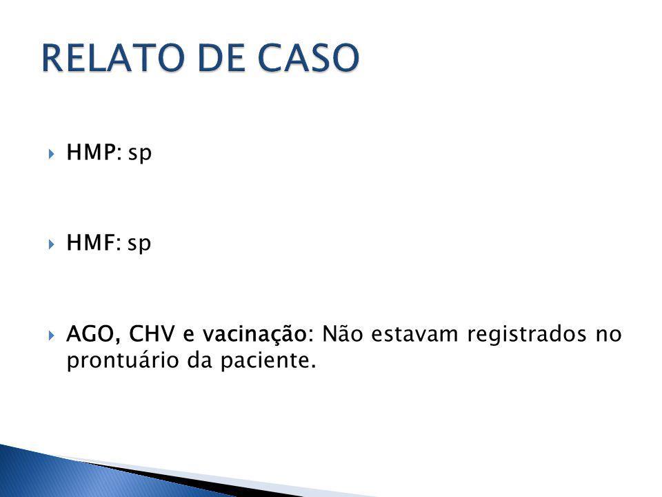 RELATO DE CASO HMP: sp HMF: sp