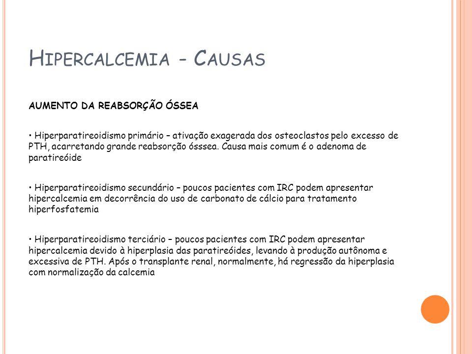 Hipercalcemia - Causas