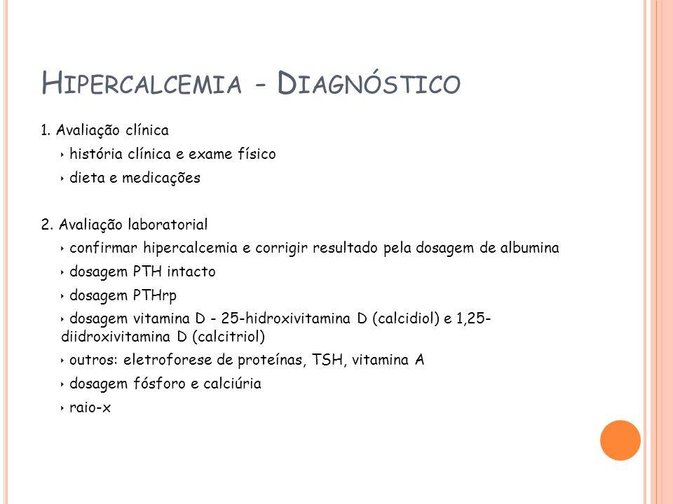 Hipercalcemia - Diagnóstico