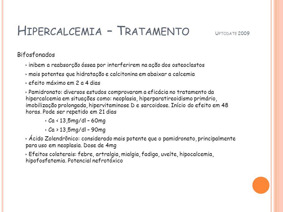 Hipercalcemia – Tratamento Uptodate 2009