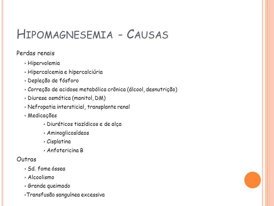 Hipomagnesemia - Causas