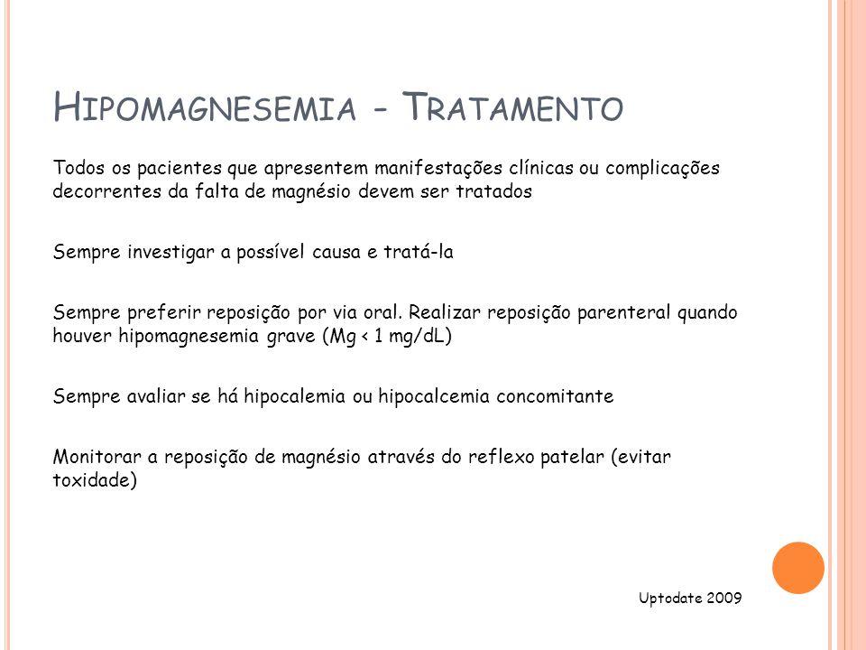 Hipomagnesemia - Tratamento