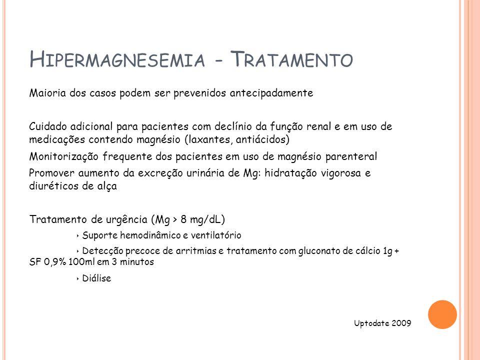 Hipermagnesemia - Tratamento