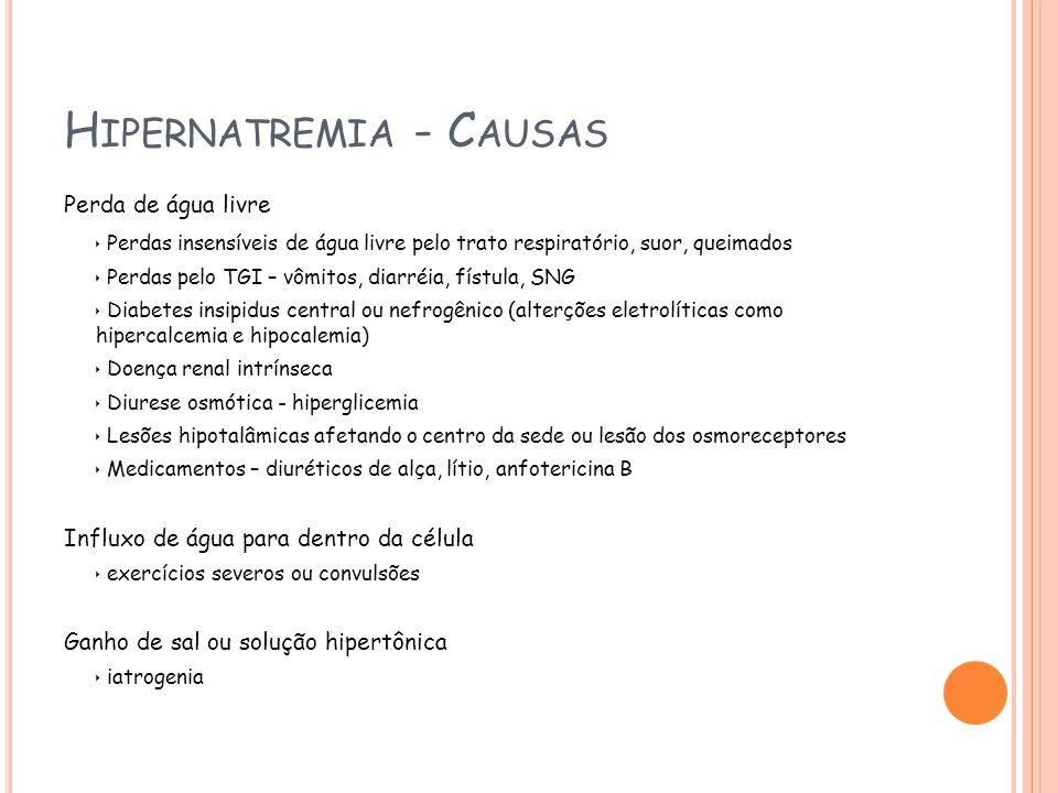 Hipernatremia - Causas