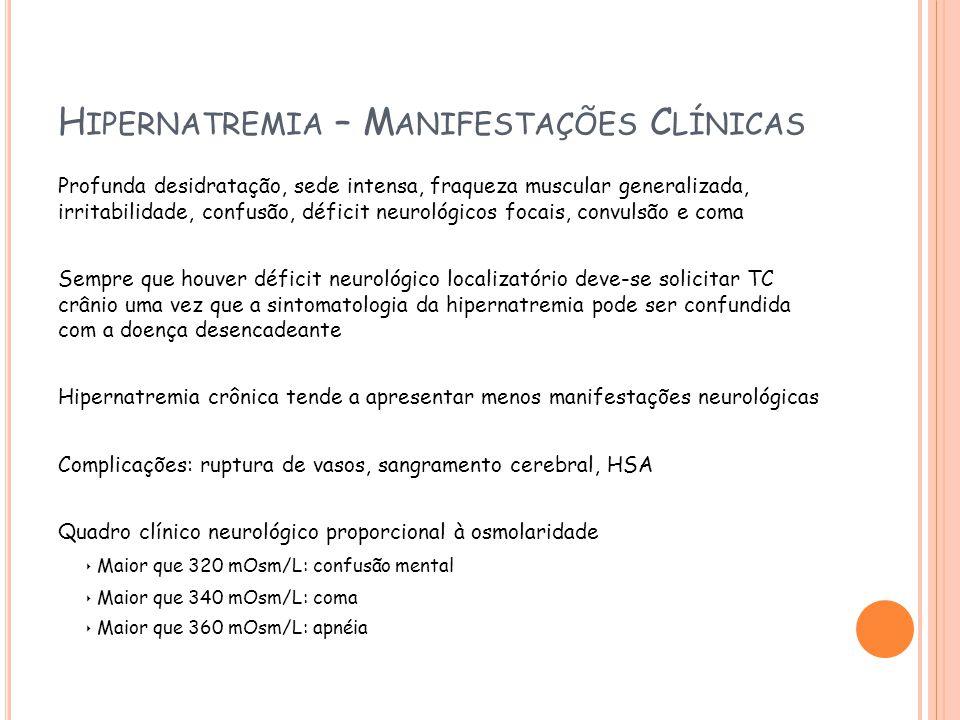 Hipernatremia – Manifestações Clínicas