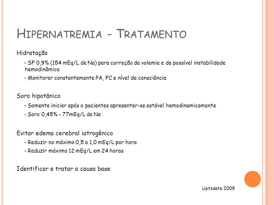 Hipernatremia - Tratamento