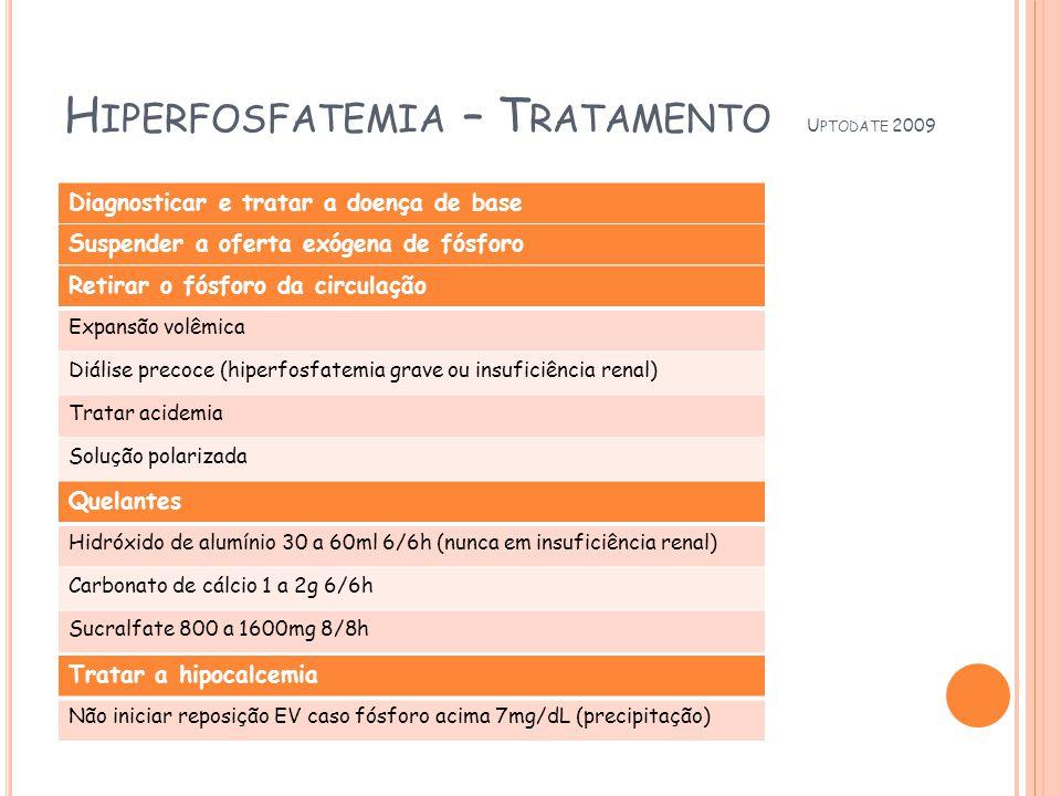 Hiperfosfatemia – Tratamento Uptodate 2009