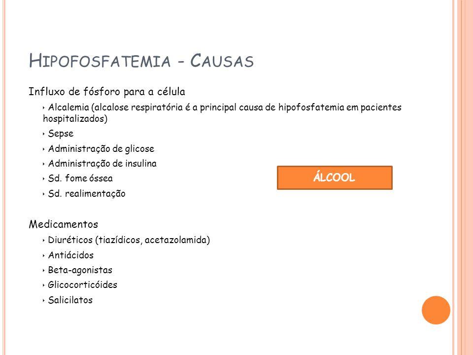 Hipofosfatemia - Causas