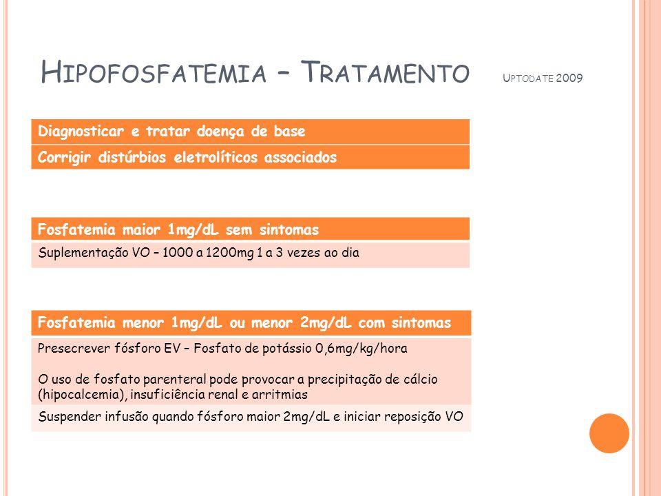 Hipofosfatemia – Tratamento Uptodate 2009