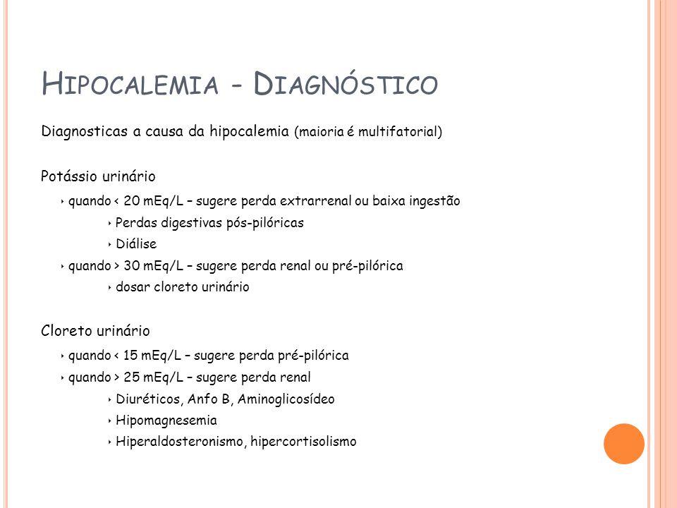 Hipocalemia - Diagnóstico