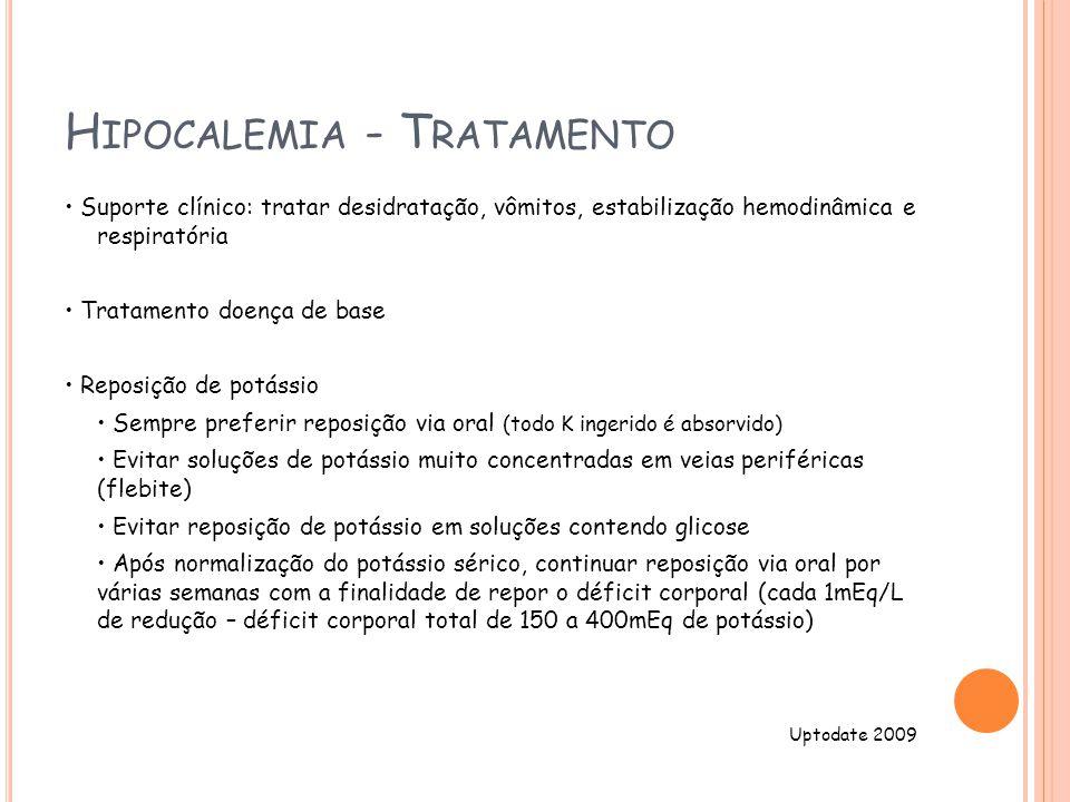 Hipocalemia - Tratamento