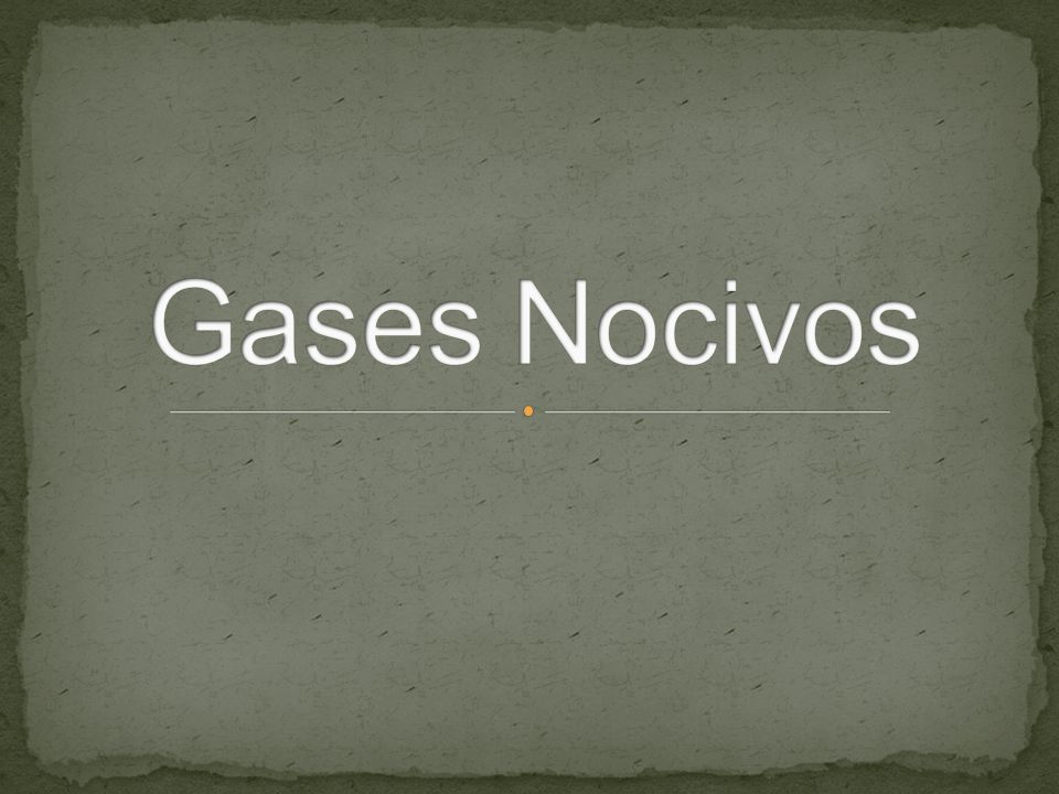 Gases Nocivos