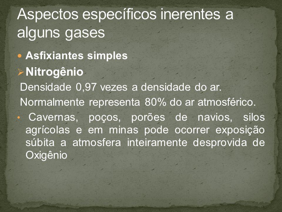 Aspectos específicos inerentes a alguns gases