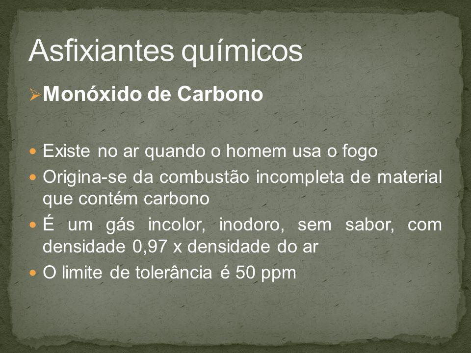 Asfixiantes químicos Monóxido de Carbono