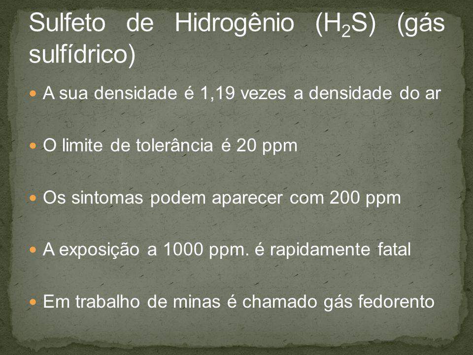 Sulfeto de Hidrogênio (H2S) (gás sulfídrico)