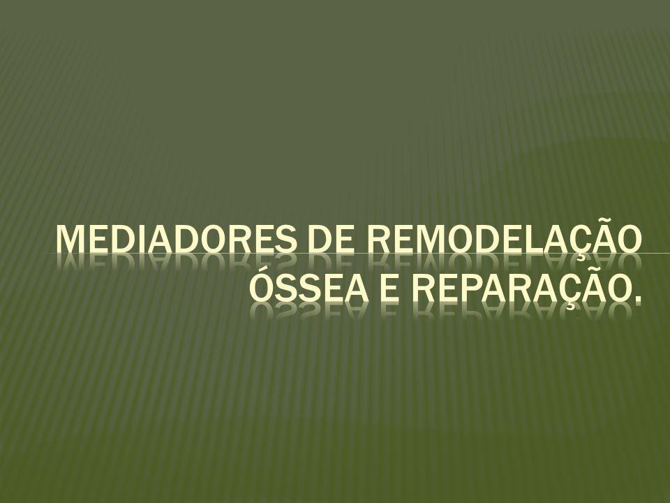 Mediadores de remodelação óssea e reparação.