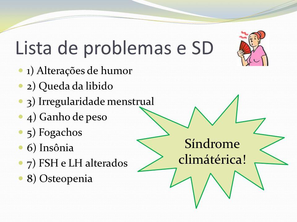 Lista de problemas e SD Síndrome climátérica! 1) Alterações de humor