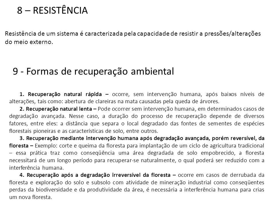 9 - Formas de recuperação ambiental