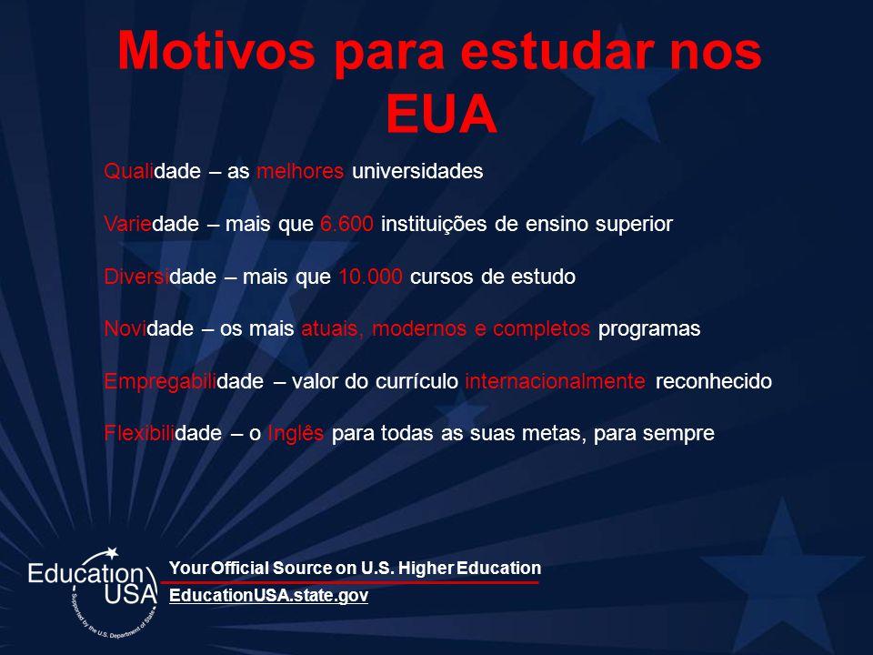 Motivos para estudar nos EUA