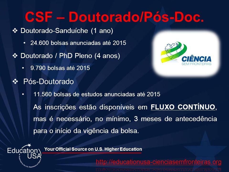 CSF – Doutorado/Pós-Doc.