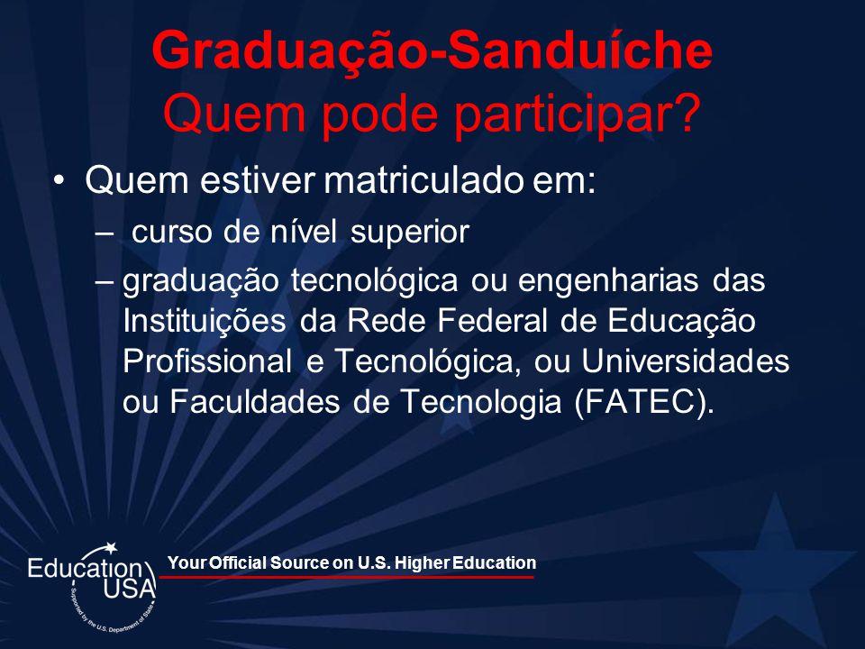 Graduação-Sanduíche Quem pode participar