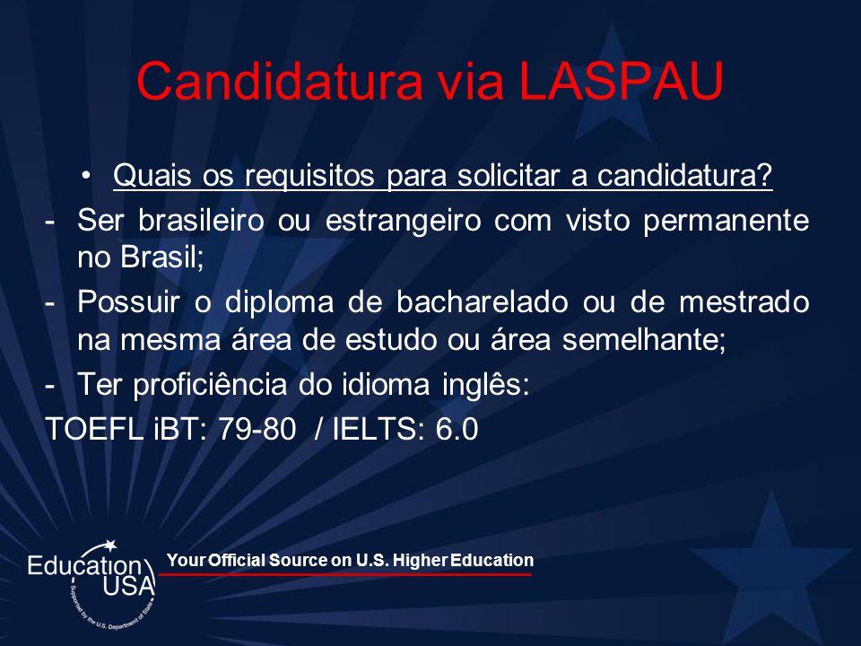 Candidatura via LASPAU
