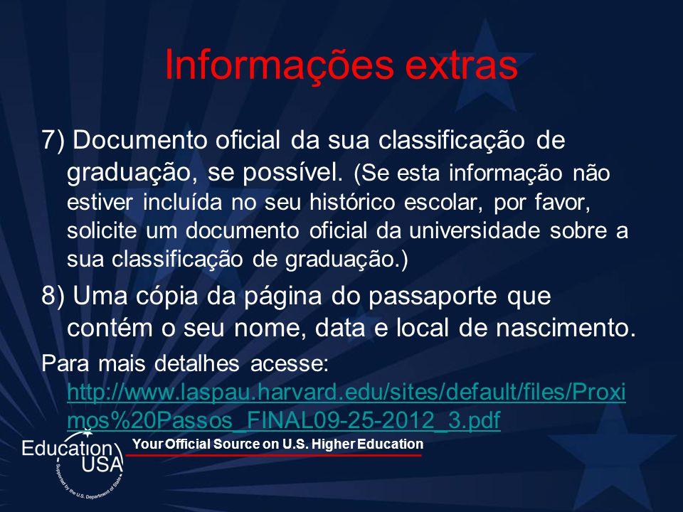 Informações extras