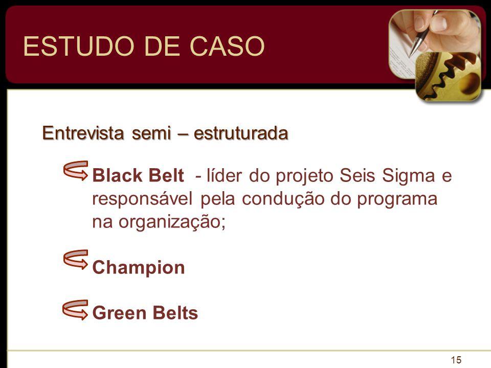 ESTUDO DE CASO Entrevista semi – estruturada