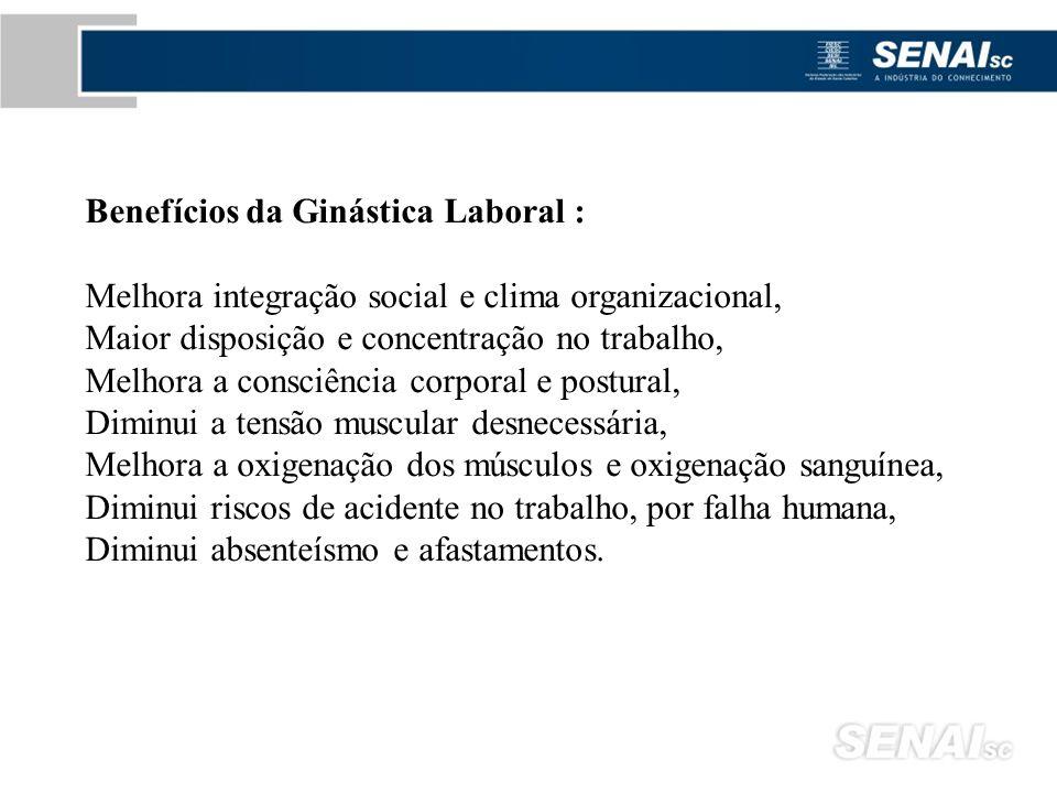 Benefícios da Ginástica Laboral :