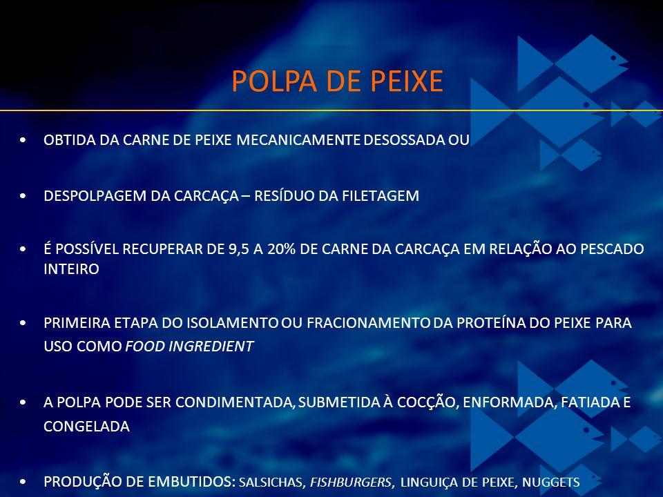 POLPA DE PEIXE OBTIDA DA CARNE DE PEIXE MECANICAMENTE DESOSSADA OU
