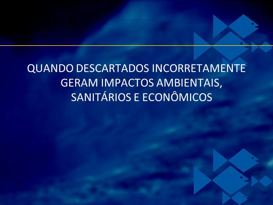QUANDO DESCARTADOS INCORRETAMENTE GERAM IMPACTOS AMBIENTAIS, SANITÁRIOS E ECONÔMICOS