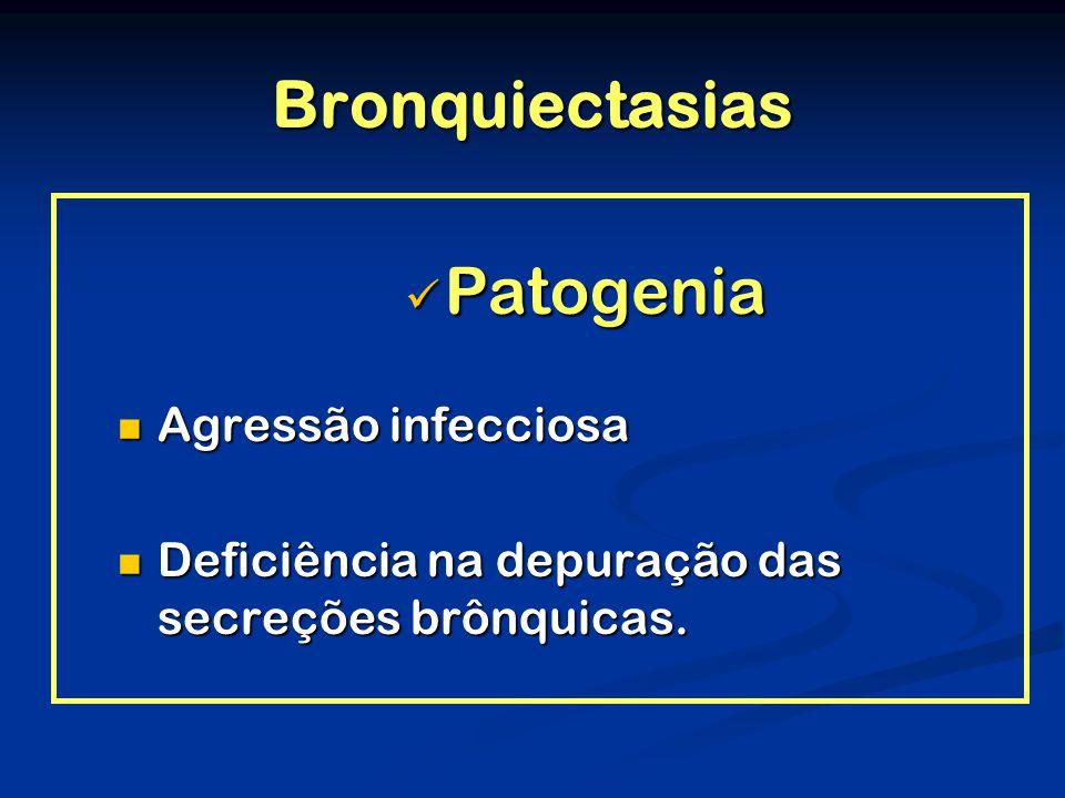 Bronquiectasias Patogenia Agressão infecciosa