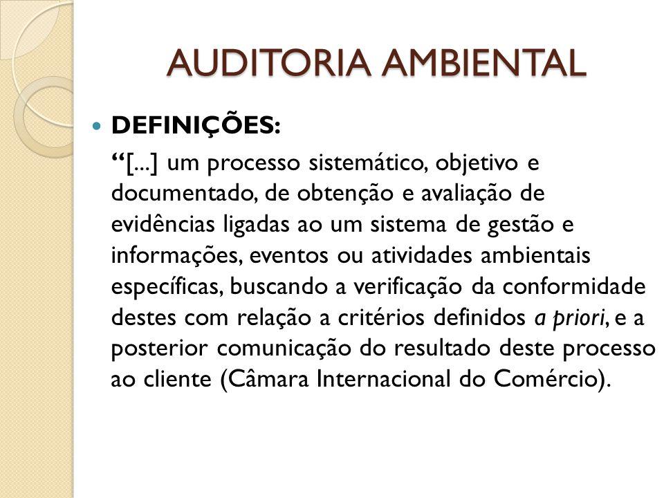 AUDITORIA AMBIENTAL DEFINIÇÕES: