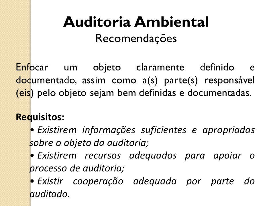 Auditoria Ambiental Recomendações