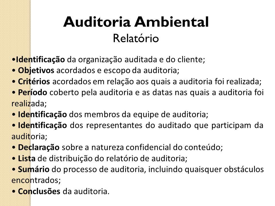 Auditoria Ambiental Relatório