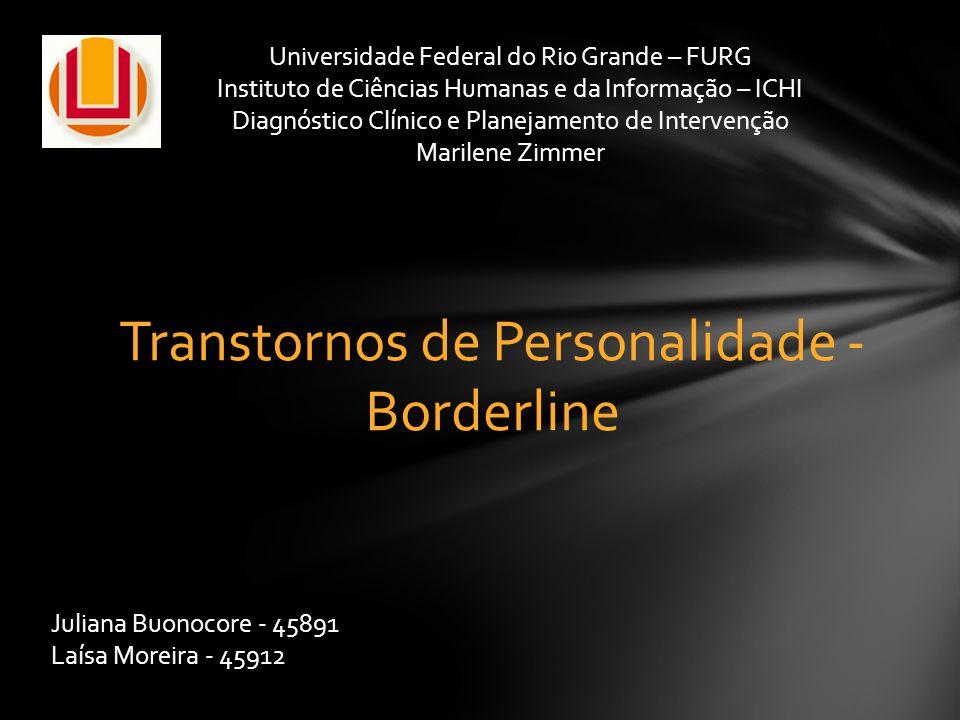 Transtornos de Personalidade - Borderline