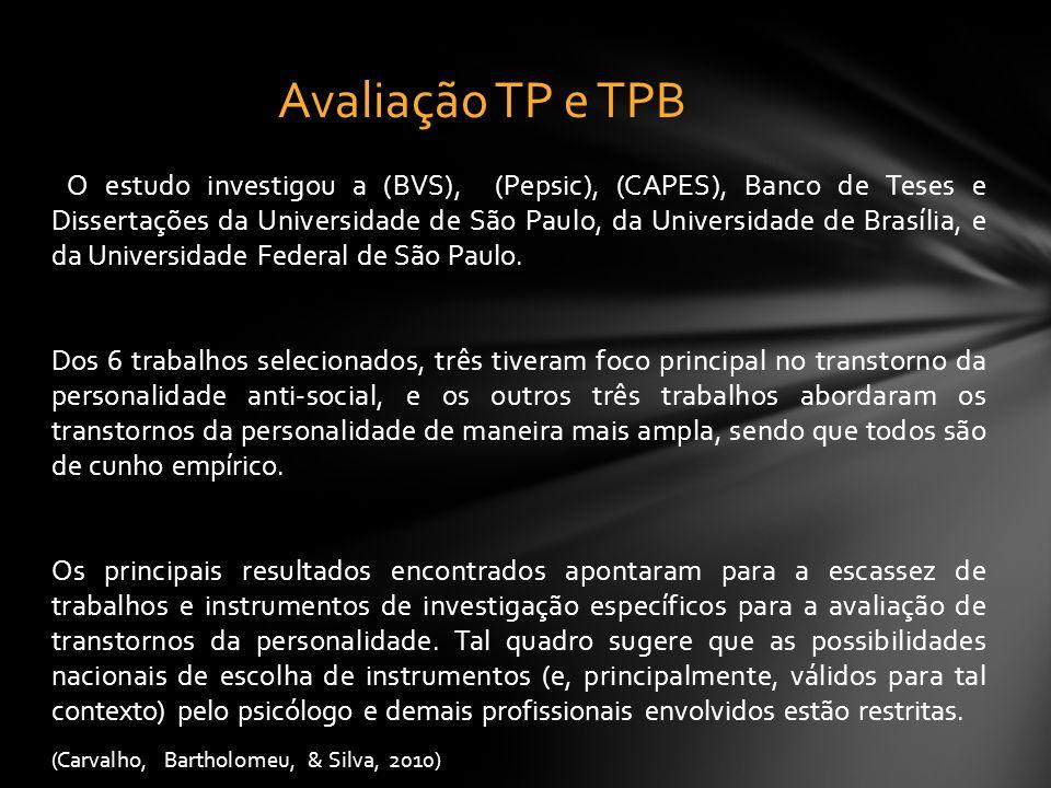 Avaliação TP e TPB