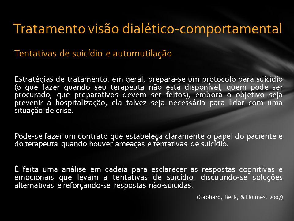 Tratamento visão dialético-comportamental