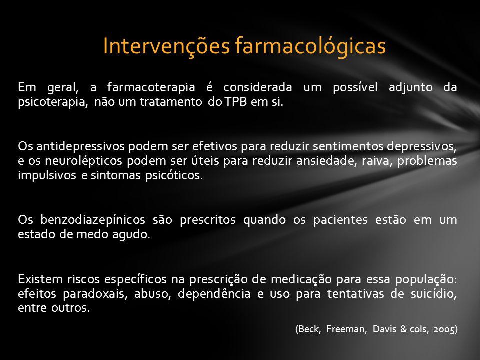 Intervenções farmacológicas