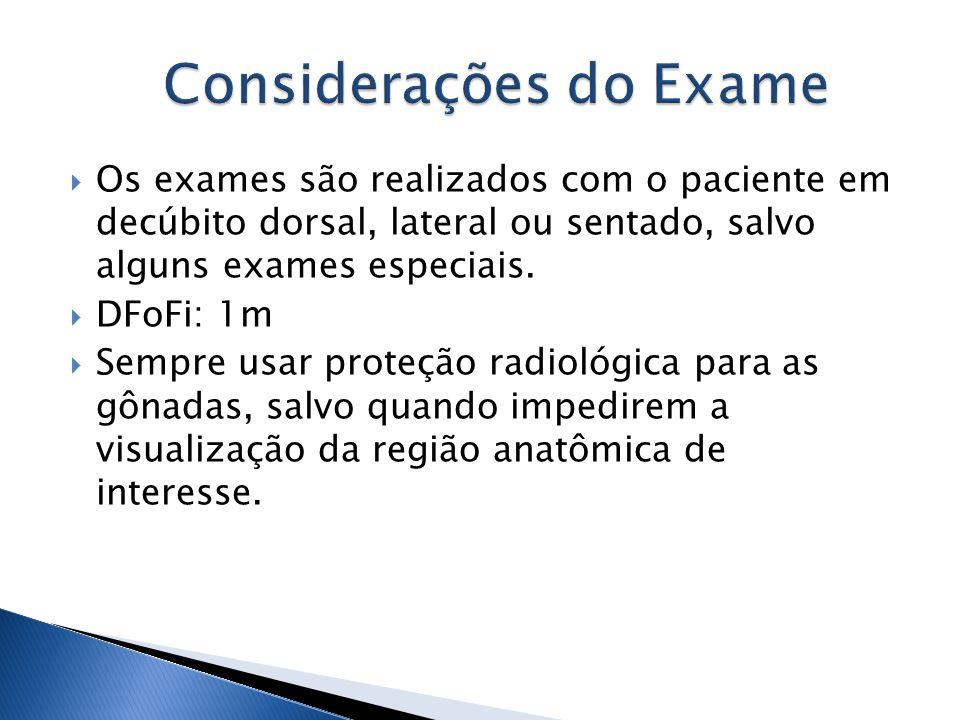 Considerações do Exame