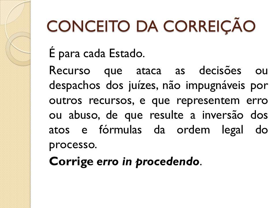 CONCEITO DA CORREIÇÃO