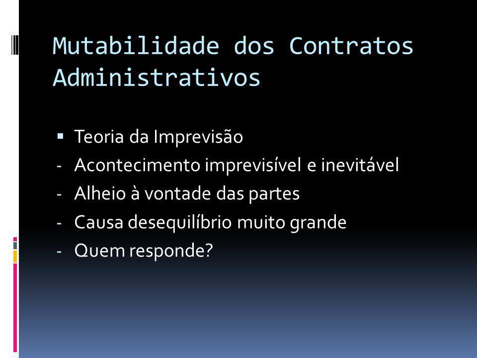 Mutabilidade dos Contratos Administrativos