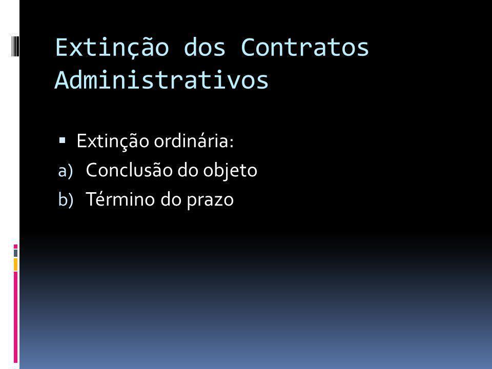 Extinção dos Contratos Administrativos